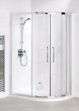 Lakes 900x800x1850 Offset Quadrant+ Shower Enclosure Silver