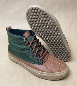 Vans SK8 Hi Del Pato MTE Shoes Olive Green Tan Brown VN0A34962UJ New Size 12