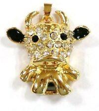 USB Stick 8 GB Schmuck KUH Taurus Stier Strass gold-farbig Ko Vache Vaca Cow