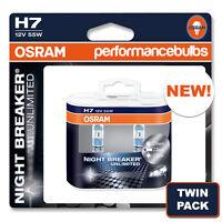 H7 NIGHT BREAKER UNLIMITED ALFA ROMEO 159 JTD JTS Ti V6 01-> HIGH BEAM BULBS