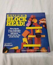 Vtg Super Block Head Wooden Board Game New early education child development