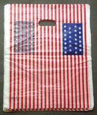 """13""""x17"""" 100 pc US American Flag Fashion Poly Plastic Retail Shopping Gift Bag"""