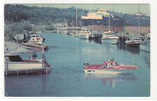 Boating Snug Harbour Goderich Ontario Canada 1968 postcard