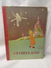 Antique Children's Storyland Santa Pixies Elves American Illustrated Hardcover
