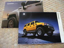 HUMMER H1 H2 H3 OFFICIAL SALES BROCHURE x2 2004-2006 USA EDITION