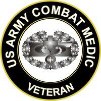 "Army Combat Medic Veteran 3.8"" Sticker 'Officially Licensed'"