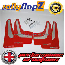 Mudflaps RallyflapZ HONDA CIVIC TYPE S FN2 2007-2010 Red Logo Silv/Red 4mm PVC