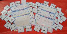 TIMES TABLE LOTTO / BINGO - LEARN 2X - 10X - FUN LEARNING RESOURCE - 6 PLAYERS