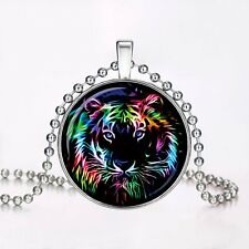 Tiger Christmas Gift Luminous Pendant Glow in the Dark Necklace Jewellery Gifts