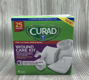 Curad® Wound Care Kit: Gauze, Non-Stick Pads and Paper Tape 25 Pieces