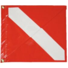 TANLOR MADE VINYL Diver-Down Boat Flag, Red & White Dive Flag with stiffner