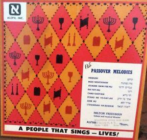 Passover Melodies Milton Freedman Aleph 502 78 Record Rare