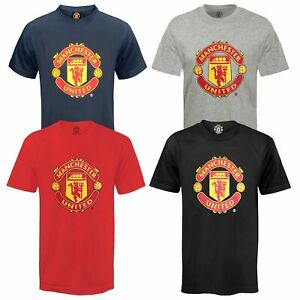 Manchester United Mens T-Shirt Crest OFFICIAL Football Gift
