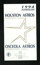 Osceola Astros--1995 Pocket Schedule--with Houston Astros Spring Training