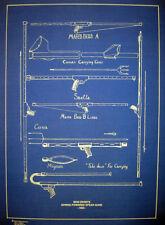 "Vintage Scuba 1955 Spear Guns Spring Powered Bluepint Plan 16""x22"" (290)"