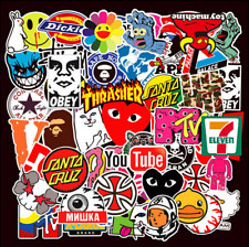 101pcs Brand Logo Sticker Pack Decal Vinyl Guitar Luggage Tide Skateboard Laptop