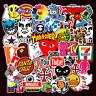 101pcs Brand Logo Sticker Pack Decal Vinyl Guitar Luggage Tide Skateboard Laptop