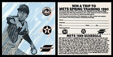 NEW YORK METS VINTAGE STICKER/CAR DECAL - 1989 - SUPER RARE/ONLY ONE ON EBAY