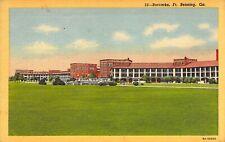 Linen WW2 Era, US Army Barracks, Ft Benning, GA Old Postcard