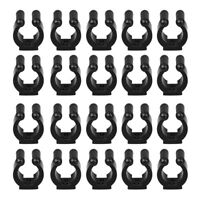 20 Pack Wall Mounted Fishing Rod Storage Clips Clamps Holder Billiard Cue O A5V5