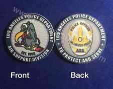 LAPD Air Support Poker Chip / Challenge Coin Buzzard Logo two sided - 10.5 grams