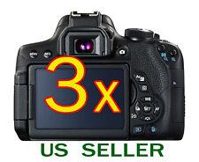 3x Canon EOS 750D Rebel T6i Camera Clear LCD Screen Protector Guard Shield Film
