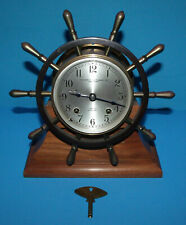 Vintage Southwest Instrument Co San Pedro Chelsea Ships Bell Clock w Key