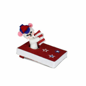 Annalee Dolls 2021 4th of July Patriotic 3in Cornhole Champ Mouse Plush New Tag