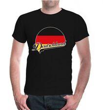 Herren Unisex Kurzarm T-Shirt Deutschland-Logo Fanshirt Germany Flagge flag
