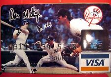 N Y YANKEE DON MATTINGLY AUTOGRAPHED  ADVERTISING LARGE CHARGE CARD POSTER