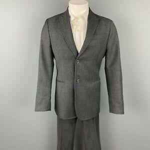 CoSTUME NATIONAL Size US 38 / IT 48 Regular Dark Gray Wool Peak Lapel Suit