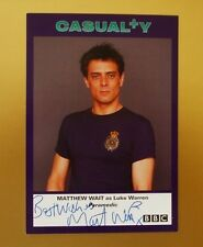 GENUINE AUTOGRAPHED PHOTO ~ POSTCARD SIZE ~ MATTHEW WAIT [ BBC CASUALTY ]