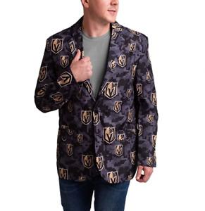 FOCO NHL Mens Vegas Golden Knights 2019 Repeat Logo Digital Camo Business Jacket