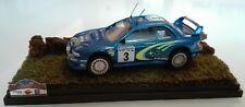 Heller 1:43 kit montato Subaru Impreza WRC Argentina 2000+mini diorama+teca