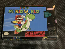 Super Mario World SNES Black Box Authentic Manual Cart Authentic Complete CIB