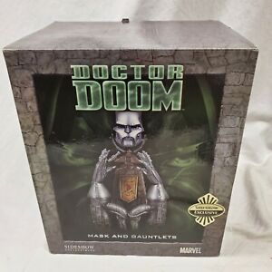 SIDESHOW EXCLUSIVE AP Dr Doom Archive Set MASK and Gauntlets SDCC Statue Replica