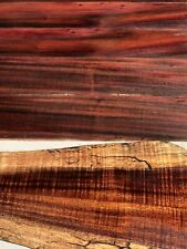 "Ultra Curly Instrument Grade Cut Offs Milo And Koa Wood Bookmatched 14@20""x1-3"""