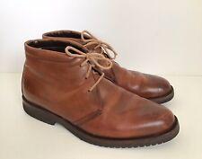 BRUNO MAGLI Polished Brown Leather Chukka Boots - UK 7 EU 41 US 8 - Vibram Soles