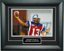 Anthony Calvillo Signed 8X12 inches Montreal Alouettes Photo Frame