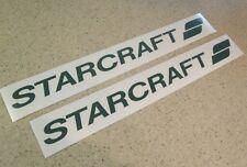 """Starcraft Vintage Camping Trailer Decal 18"""" 2-PAK FREE SHIP + FREE Fish Decal!"""