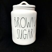 New HTF Rae Dunn BROWN SUGAR Large Canister LL Large Letter By Magenta