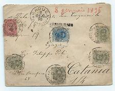 FRANCOBOLLI 1896 REGNO 6 VALORI SU ASSICURATA RAGUSA 8/1 A/8782