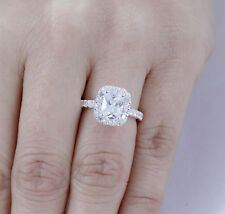 Princess 925 Sterling Silver CZ Engagement Ring Wedding Band Size 5 SE082A