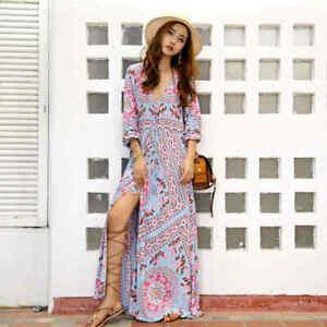 cherrie424: Floral Boho Maxi Dress