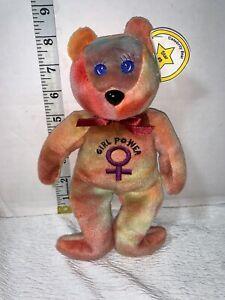 """GIRL POWER JC Celebrity Bears """"Ginger Spice"""" GIRLS Born A Star #8 BEANIE BABY"""