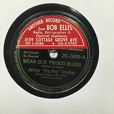 """Arthur Crudup - I'm In The Mood / Mean Old 'Frisco Blues 10"""" VG- 78 RPM Record"""