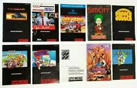 Super Nintendo SNES - Lot of 10 Game Manuals Uncharted Waters New Horizons Mario