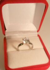 1.45 Carat D VVS1 Round Brilliant cut Solitaire Engagement Ring White Gold