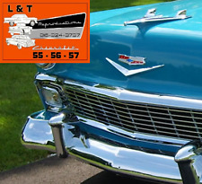 1956 Chevy Front Bumper 5 PC W/ Guards Belair Sedan Hardtop Wagon Nomad Converti