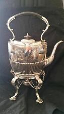 ANTIQUE ENGLISH SILVER PLATE KETTLE ON STAND PRESENTATION PIECE
